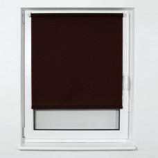 Штора рулонная BRABIX 40х175 см, текстура - лён, защита 55-85%, 200 г/м2, коричневый S-17, 605972
