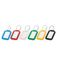 Брелоки для ключей КОМПЛЕКТ 12 шт., длина 50 мм, инфо-окно 35х20 мм, АССОРТИ, BRAUBERG, 231152