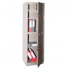 Шкаф металлический для документов КБС-032Т, 1550х470х390 мм, 48 кг, 2 отделения, сварной