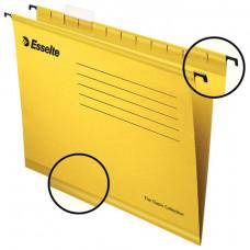 Подвесные папки А4 (345х240 мм), до 300 листов, КОМПЛЕКТ 25 шт., желтые, картон, ESSELTE