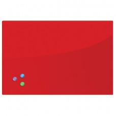 Доска магнитно-маркерная стеклянная (40х60 см), 3 магнита, КРАСНАЯ, BRAUBERG, 236746