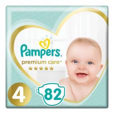 Подгузники 82 шт. PAMPERS (Памперс) Premium Care, размер 4 (9-14 кг), 1210801