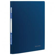 Папка с металлическим скоросшивателем BRAUBERG стандарт, синяя, до 100 листов, 0,6 мм, 221633