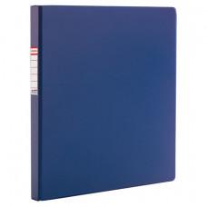 Папка с металлическим пружинным скоросшивателем BRAUBERG, картон/ПВХ, 35 мм, синяя, до 290 листов, 223187