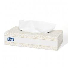Салфетки косметические TORK (Система F1) Premium, 2-слойные, КОМПЛЕКТ 100 шт., картонный бокс, белые, 120380