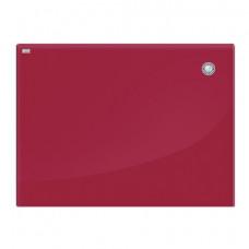 Доска магнитно-маркерная стеклянная (60x80 см), КРАСНАЯ, OFFICE,