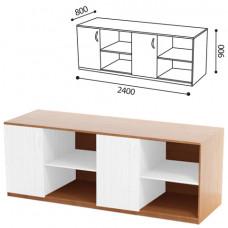 Стол (ПАКЕТ 1) для кабинета физики, 2400х800х900мм, ЛДСП бук/пластик