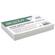 Блок для записей BESTAR непроклеенный, блок 15х10 см, 200 листов, белый, белизна 90-92%, 123004