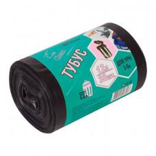 Мешки для мусора 12 л, черные, в рулоне 30 шт., ПНД, 6 мкм, 32х55 см, для урн, d - 20, h - 26, КОНЦЕПЦИЯ БЫТА