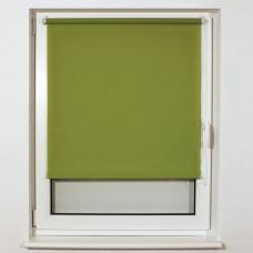 Штора рулонная BRABIX 40х175 см, текстура - лён, защита 55-85%, 200 г/м2, зелёный S-32, 605969