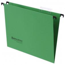 Подвесные папки А4 (350х245 мм), до 80 листов, КОМПЛЕКТ 10 шт., зеленые, картон, BRAUBERG (Италия), 231791
