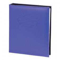 Фотоальбом BRAUBERG 20 магнитных листов, 23х28 см, под гладкую кожу, на кольцах, синий, 391124