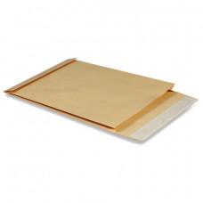 Конверт-пакет В4 объемный (250х353х40 мм), до 300 листов, крафт-бумага, отрывная полоса, 391157