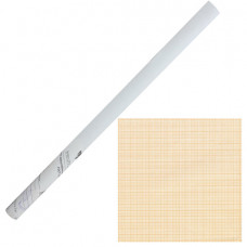Бумага масштабно-координатная, рулон 878 мм х 10 м, оранжевая, STAFF, 122811