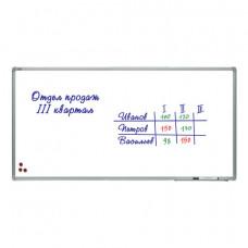 Доска магнитно-маркерная (120х240 см), алюминиевая рамка, лаковое покрытие,