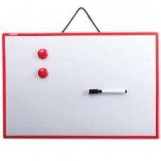 Доска магнитно-маркерная (30х45 см), ГАРАНТИЯ 10 ЛЕТ, ПИФАГОР, 231719