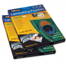 Пленки-заготовки для ламинирования А4, КОМПЛЕКТ 100 шт., 100 мкм, FELLOWES, FS-53511