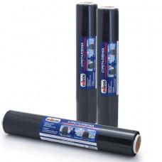 Стрейч-пленка для ручной упаковки, 45 см х 100 м, 23 мкм, 0,95 кг - нетто, черная, UNIBOB, 69698