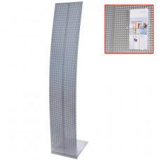 Стойка напольная для рекламных материалов (160х30х36 см), без лотков, хром, ПАРУС-1, (лотки290443-290445), 290441