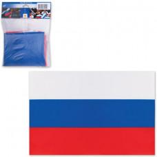 Флаг России, 90х135 см, карман под древко, упаковка с европодвесом, 550021