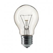 Лампа накаливания PHILIPS A55 CL E27, 60 Вт, грушевидная, прозрачная, колба d = 55 мм, цоколь E27, 354563