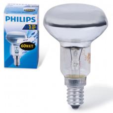 Лампа накаливания PHILIPS Spot R50 E14 30D, 60 Вт, зеркальная, колба d = 50 мм, цоколь E14, угол 30°, 382429