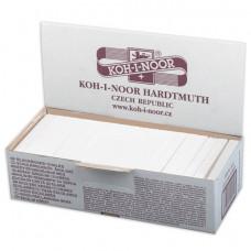 Мел белый KOH-I-NOOR (Чехия), набор 100 шт., квадратный, 11150200000