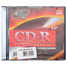 Диск CD-R VS, 700 Mb, 52x, Slim Case, VSCDRSL01