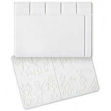 Доска для лепки А4, 297х210 мм, ЛУЧ, белая, с рельефным трафаретом, 17С1172-08