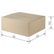 Гофроящик, длина 330 х ширина 330 х высота 132 мм, марка Т23, профиль В, FEFCO 0201 / ГОСТ, исполнение А