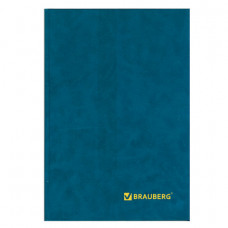 Книга учета 208 л., А4 200*290 мм BRAUBERG, клетка, твердая обложка из картона, бумвинил, блок офсет, 130184