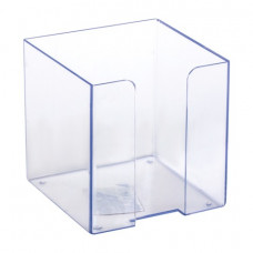Подставка для бумажного блока СТАММ пластиковая, 90х90х90 мм, прозрачная, ПЛ41