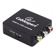 Конвертер HDMI-RCA, CABLEXPERT, F-RCA, 3xRCA (1 video, 2 audio), DSC-HDMI-CVBS-001