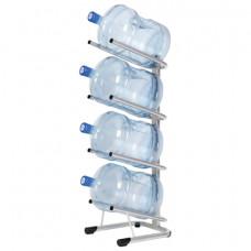 Стеллаж для хранения воды HOT FROST, на 4 бутыли, металл, серебристый, 250900402