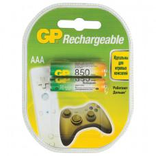 Батарейки аккумуляторные GP, AAA, Ni-Mh, 850 mAh, комплект 2 шт., в блистере, 85AAAHC-2DECRC2