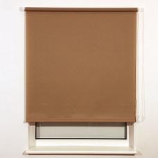 Штора рулонная BRABIX 140х175 см, текстура - лён, защита 55-85%, 200 г/м2, темно-беж.S-36, 606003