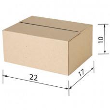 Гофроящик, длина 220 х ширина 170 х высота 100 мм, марка Т22, профиль В, FEFCO 0201 / ГОСТ, исполнение А, 440059