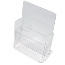 Подставка настольная для рекламных материалов МАЛОГО ФОРМАТА (115х32 мм), для узких буклетов, №106