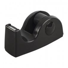 Диспенсер для клейкой ленты BRAUBERG настольный, утяжеленный, средний, черный, 11,8х5х5 см, 440142