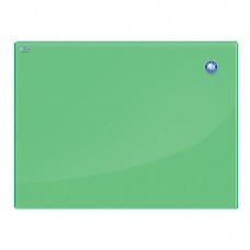 Доска магнитно-маркерная стеклянная (60x80 см), ЗЕЛЕНАЯ, OFFICE,