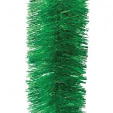 Мишура 1 штука, диаметр 100 мм, длина 2 м, зеленая, 5-180-10