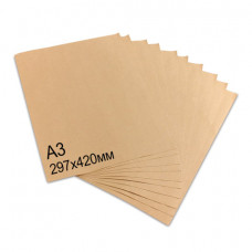 Крафт-бумага в листах А3, 297х420 мм, плотность 78 г/м2, 100 листов, BRAUBERG, 440149