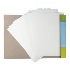 Картон белый А4 МЕЛОВАННЫЙ (глянцевый), 10 листов, в папке, ЮНЛАНДИЯ, 200х290 мм,