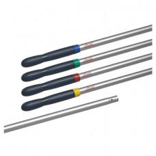 Черенок для уборочного инвентаря 150 см, без резьбы, 4 цветных кольца, ТИП B (d = 2,5 см), алюминий, VILEDA