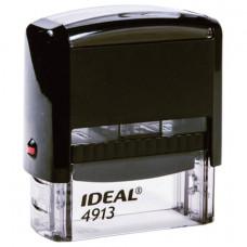 Оснастка для штампа, размер оттиска 58х22 мм, синий, TRODAT IDEAL 4913 P2, подушка в комплекте, 125423