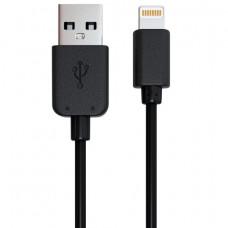Кабель USB 2.0-Apple Lightning, 1 м, RED LINE, для подключения IPhone (IPad), черный, УТ000008646