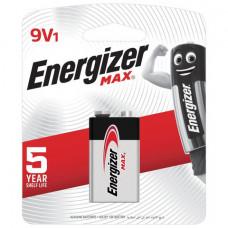 Батарейка ENERGIZER Max, Крона (6LR61, 6LF22, 1604A), алкалиновая, 1 шт., в блистере, E301531801