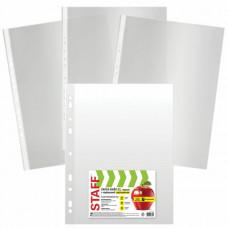 Папки-файлы БОЛЬШОГО ФОРМАТА (297х420 мм) А3, ВЕРТИКАЛЬНЫЕ, КОМПЛЕКТ 50 шт., 35 мкм, STAFF, 225769