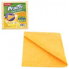 Тряпка для мытья пола, 50х60 см, 200 г/м2, вискоза (ИПП), оранжевые, PACLAN