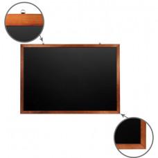 Доска для мела магнитная (100х150 см), черная, деревянная окрашенная рамка, Россия, BRAUBERG, 236895